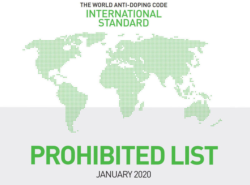 Oppdatert dopingliste f.o.m 1. januar 2020