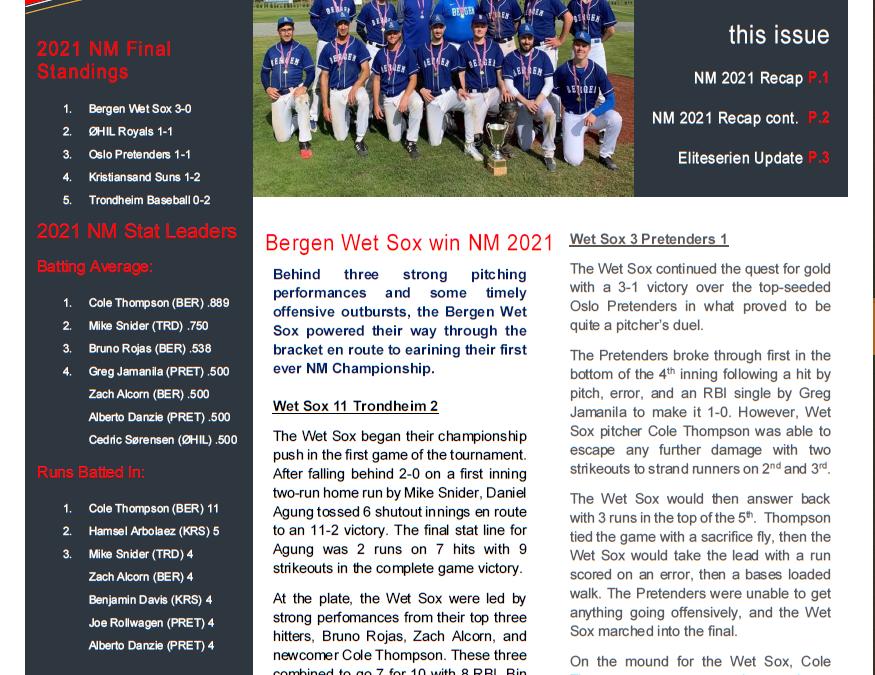 Norgesmesterskapet '21, og serieinnspurt Eliteserien